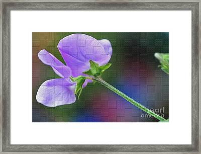 Woven Floral Framed Print by Kaye Menner