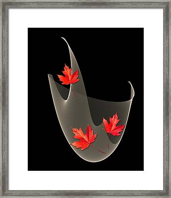 Woven Maple Leaves Framed Print