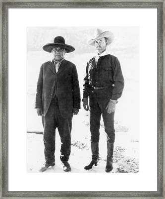 Wovoka And Tim Mccoy, 1926 Framed Print by Granger