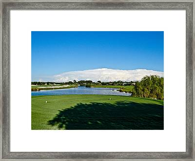 Wow Big Clouds Framed Print by Dennis Dugan