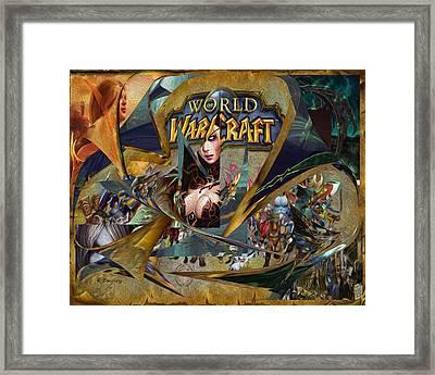 Wow Canvas Framed Print by Karl Emsley