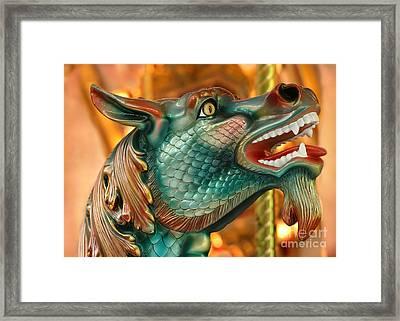 Wow Merry Go Round Seahorse Framed Print by Sabrina L Ryan