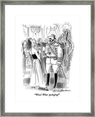 Wow!  What Packaging! Framed Print
