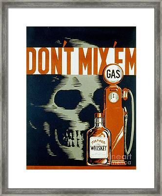 Wpa  Vintage Safety Poster Framed Print by Edward Fielding