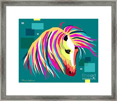 Wpap Horse Framed Print by Mark Ashkenazi