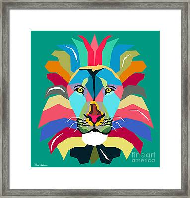 Wpap Lion Framed Print by Mark Ashkenazi