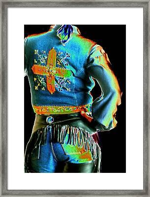 Wrangler Back 3727 Framed Print by Jerry Sodorff