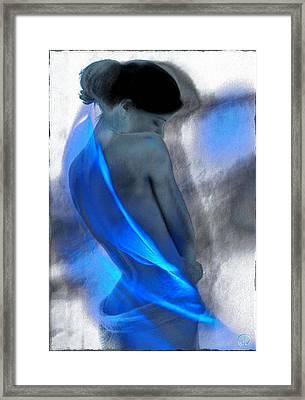 Wrapped In Blues Framed Print by Gun Legler