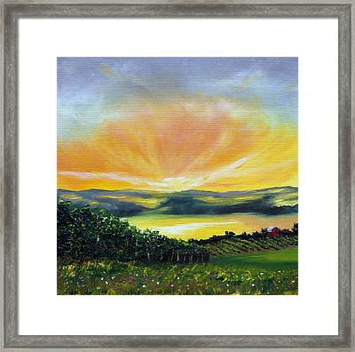 Wrapped In Light Framed Print by Meaghan Troup