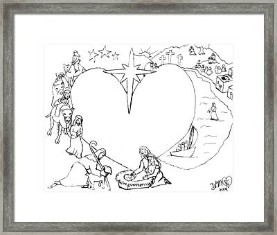 Wrapped In The Arms Of His Love Framed Print by Dawna Morton
