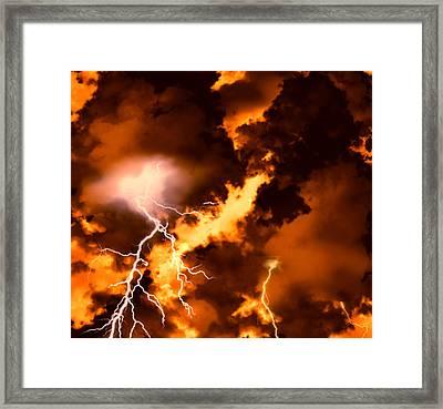 Wrath Of Zeus Framed Print