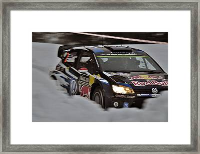 Wrc Rally Sweden  Framed Print