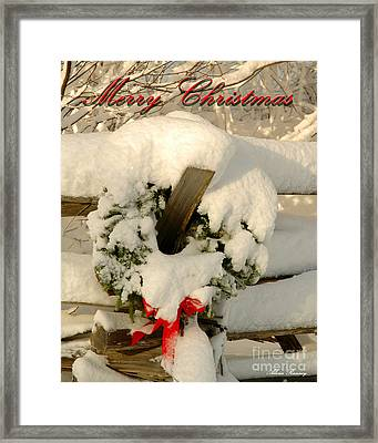 Framed Print featuring the photograph Wreath  by Alana Ranney