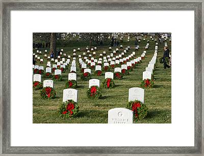 Wreaths Around America Framed Print by Heidi Poulin