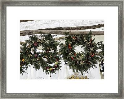 Wreaths For Sale Colonial Williamsburg Framed Print by Teresa Mucha