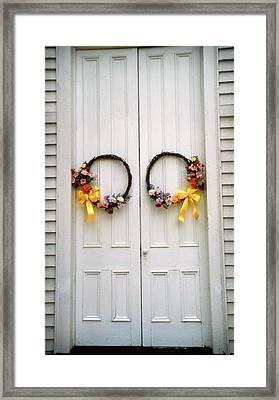 Wreaths Framed Print by Marion Johnson