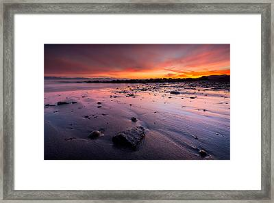 Wreck Beach Sunset Framed Print by Alexis Birkill