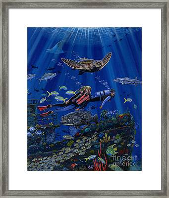 Wreck Divers Re0014 Framed Print by Carey Chen