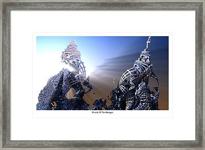 Wreck Of The Menger Framed Print by Hal Tenny