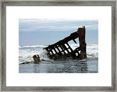 Framed Print featuring the photograph Wreck Of The Peter Iredale by Chalet Roome-Rigdon