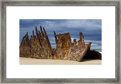 Wreck Of The Trinculo Framed Print by Heather Provan