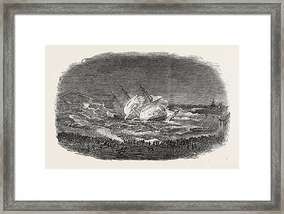 Wreck Of The Troop-ship Charlotte Framed Print by English School