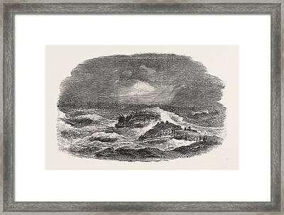Wreck Of The Troop-ship Charlotte In Algoa Bay 1854 Framed Print by English School
