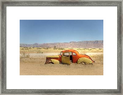 Framed Print featuring the photograph Wreck On The Highway by Juergen Klust