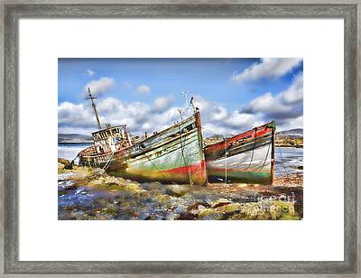 Wrecked Boats Framed Print