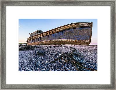 Wrecked Ship Framed Print