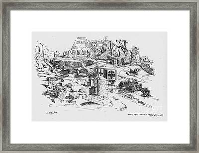Wrecked Street Thru St Lo France 1944 Framed Print