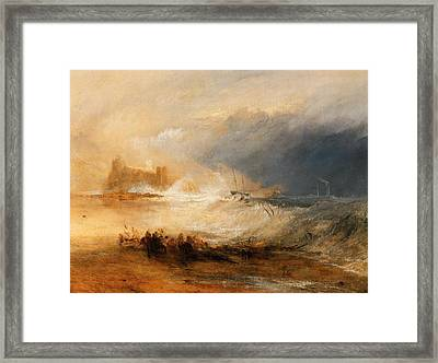 Wreckers Off The Coast Of Northumberland Framed Print by J M W Turner