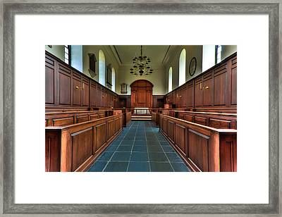 Framed Print featuring the photograph Wren Chapel Interior by Jerry Gammon
