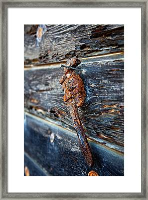 Wrenched And Rusted Framed Print by Peter Tellone