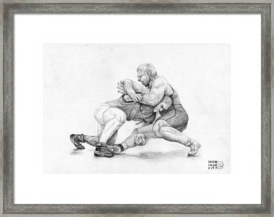 Wrestlers Framed Print