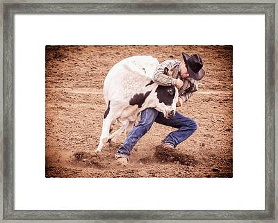 Wrestling Match Framed Print by Caitlyn  Grasso
