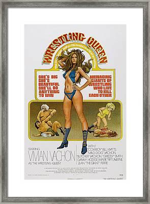 Wrestling Queen, Us Poster, Vivian Framed Print by Everett