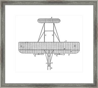 Wright Biplane Framed Print by Science Photo Library