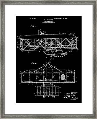 Wright Bros Airplane Design Framed Print by Dan Sproul