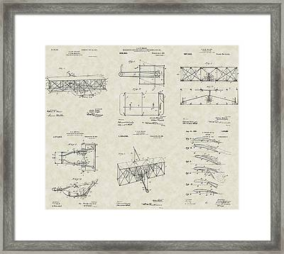 Wright Brothers Aircraft Patent Collection Framed Print