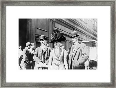 Wright Brothers And Sister Framed Print
