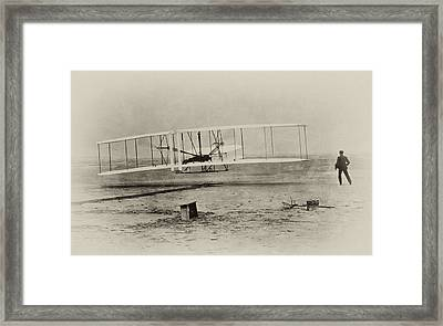 Wright Brothers - First In Flight Framed Print