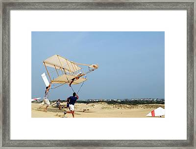 Wright Brother's Glider Replica Framed Print by Us Navy/shane T. Mccoy