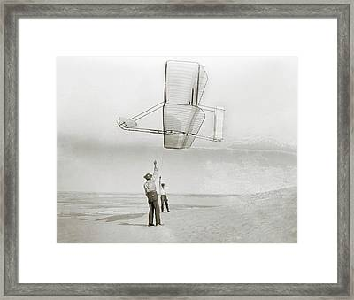 Wright Brothers Kitty Hawk Glider Framed Print by Library Of Congress