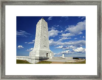 Wright Brothers Memorial D Framed Print by Greg Reed