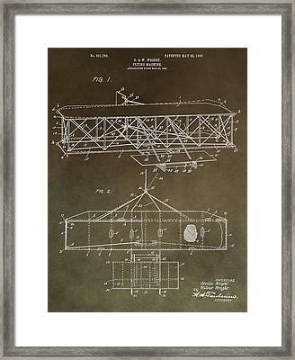 Wright Brothers Original Patent Framed Print by Dan Sproul