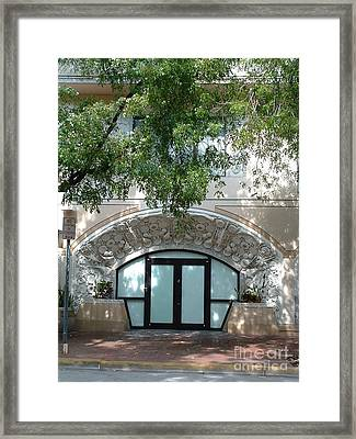 Wright Door Framed Print