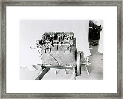 Wright Flyer Aircraft Engine Framed Print by Library Of Congress