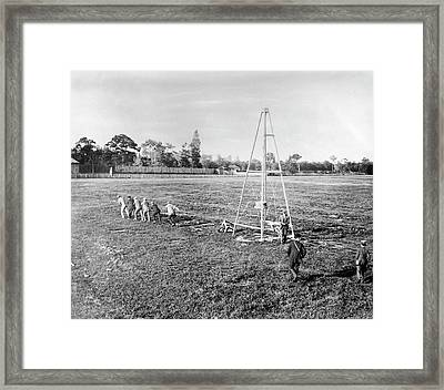 Wright Flyer II-iii Catapult Framed Print