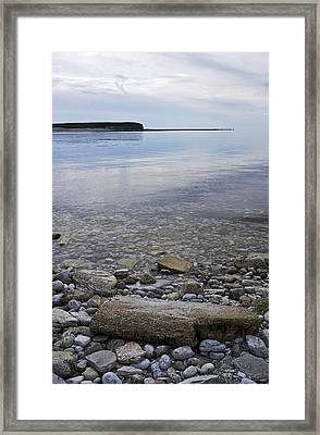 Framed Print featuring the photograph Wright Isld From Naked Isls by Arkady Kunysz
